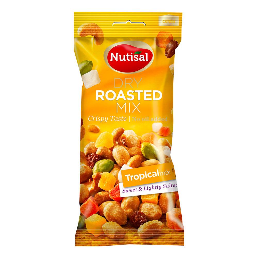 Nutisal Rostade Nötter Tropical Mix i Påse - 60 gram