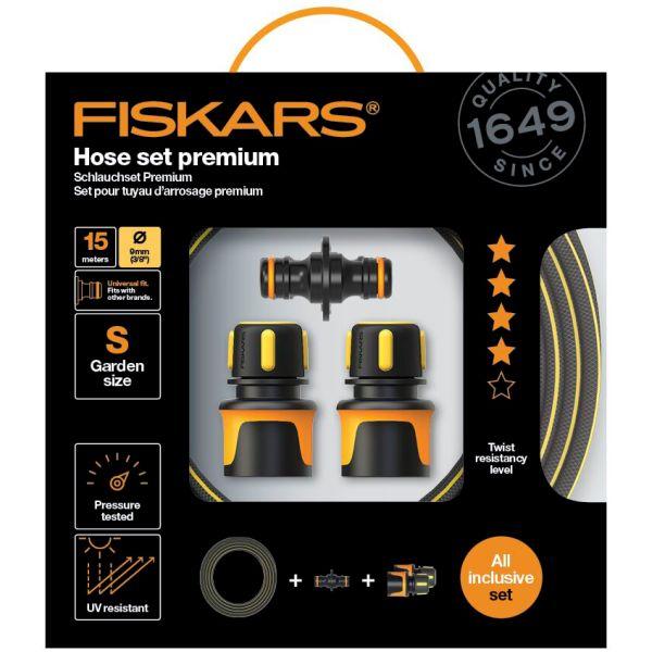 Fiskars Premium Hose Set Slangesett Ø 9 mm, 15 m