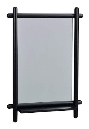 Milford Spegel med hylla Svart Ek 52x74 cm