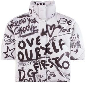 Dolce & Gabbana Good Vibes Logo Täckjacka Vit 6 år