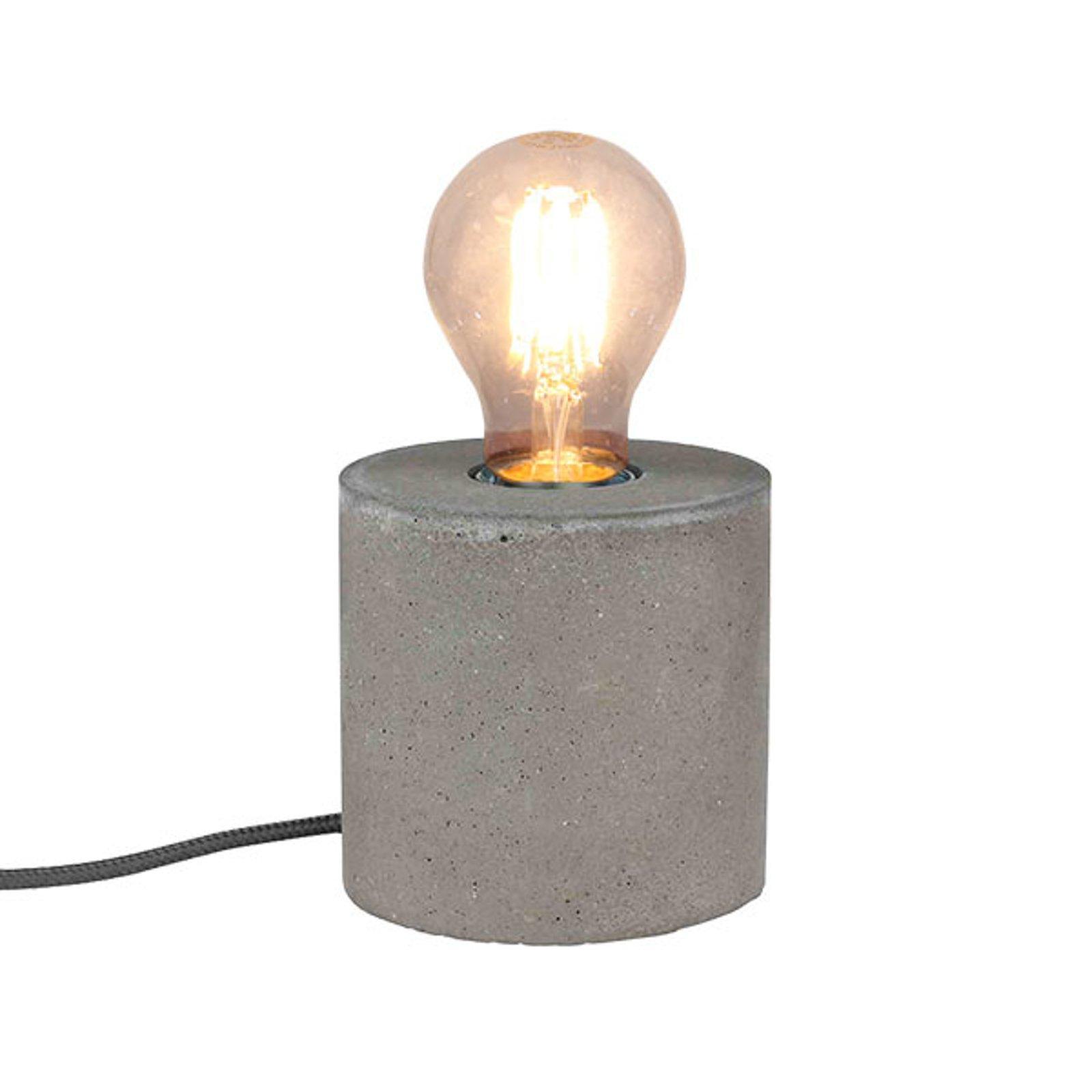 Strong - betong-bordlampe i rund form