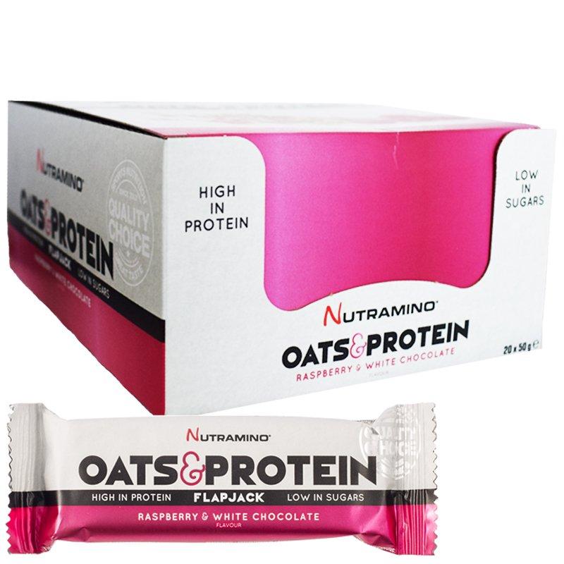 """Hel Låda Proteinbar """"Raspberry & White Chocolate"""" 20 x 50g - 79% rabatt"""