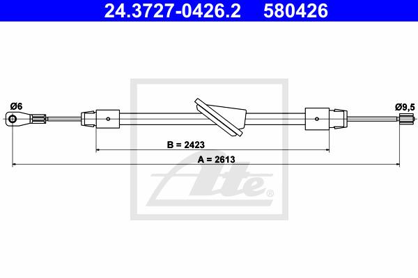 Käsijarruvaijeri ATE 24.3727-0426.2