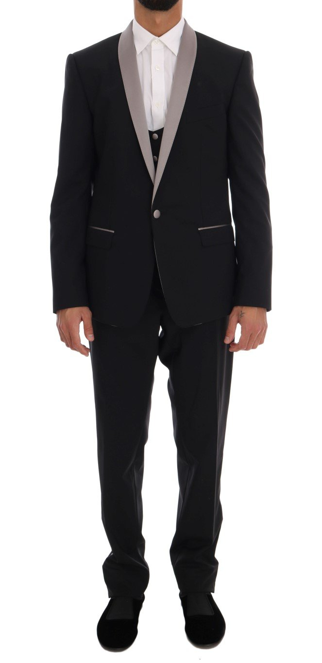 Dolce & Gabbana Men's 3 Piece MARTINI Slim Suit Beige KOS1049 - IT50   L