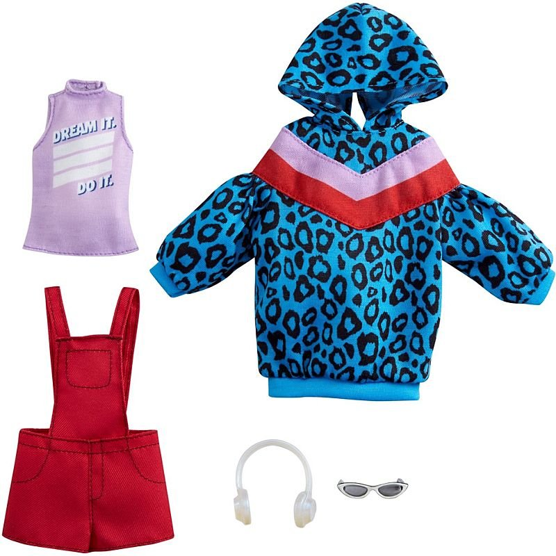 Barbie - Fashion 2-Pakke - Animal-Print Hoodie Dress (GRC86)