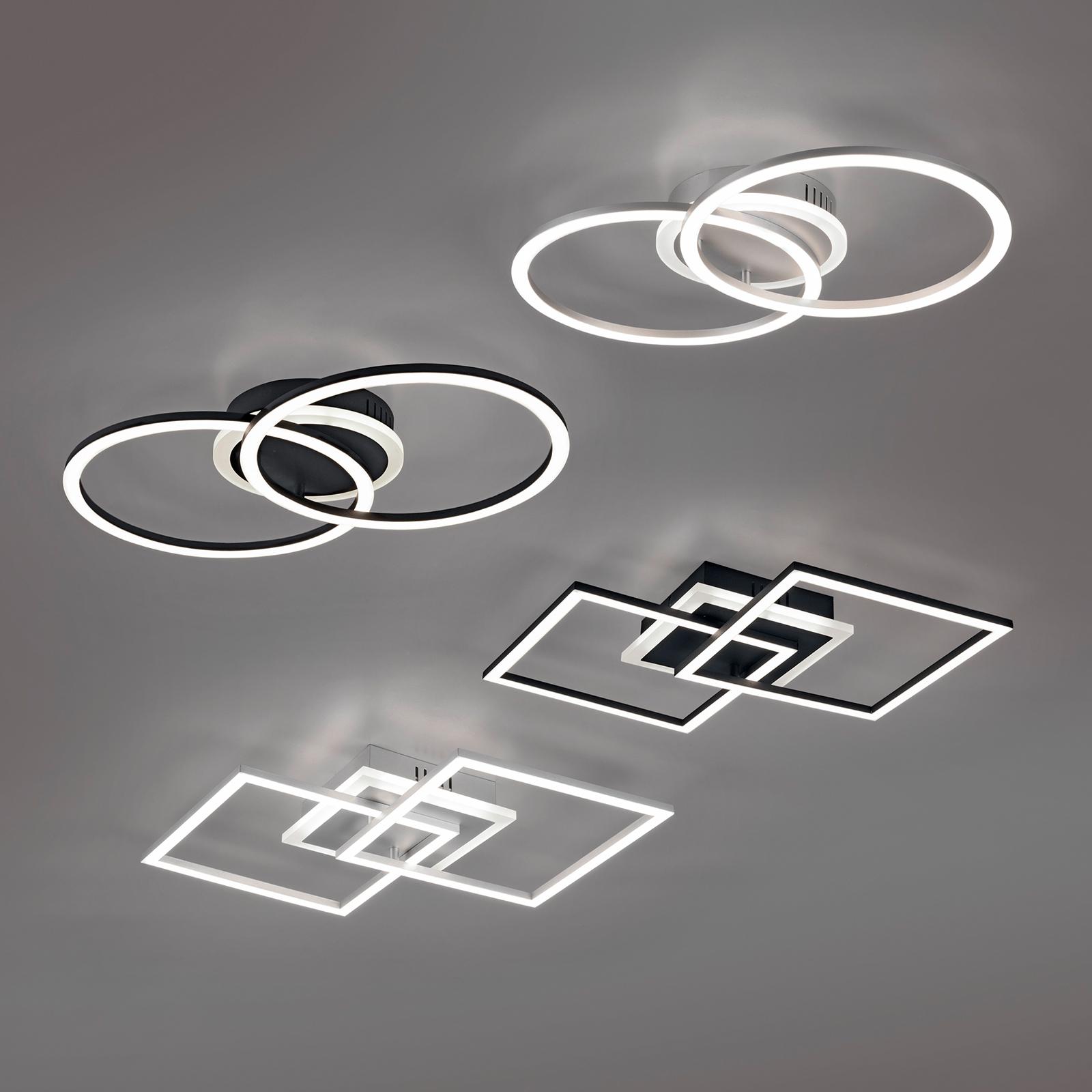 LED-kattovalaisin Venida, musta, himmennettävä