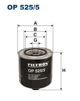 Öljynsuodatin FILTRON OP 525/5