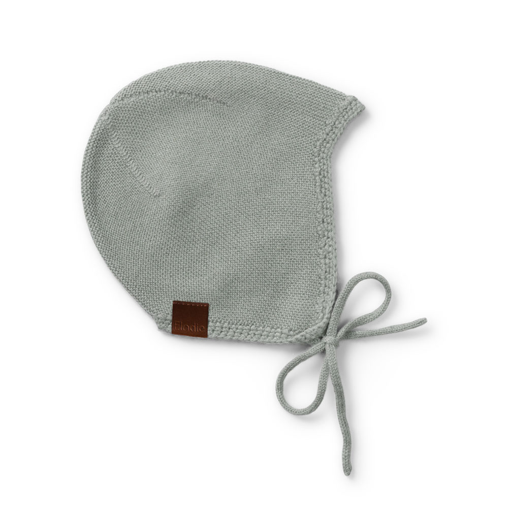 Wool Knitted Baby Hat - Mineral Green