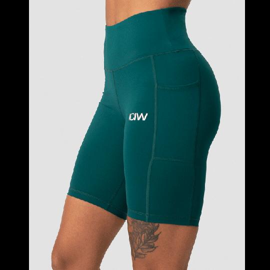 Scrunch Pocket Biker Shorts, Teal