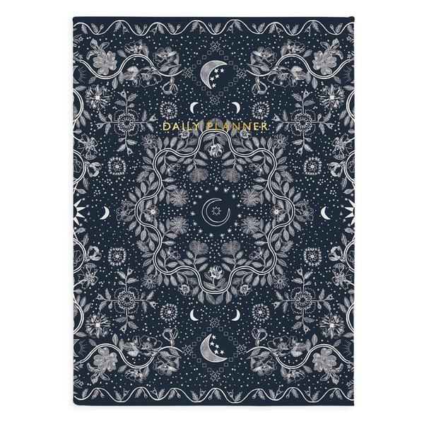 Urban Outfitters x Ohh Deer Navy Floral Moon Daily Planner