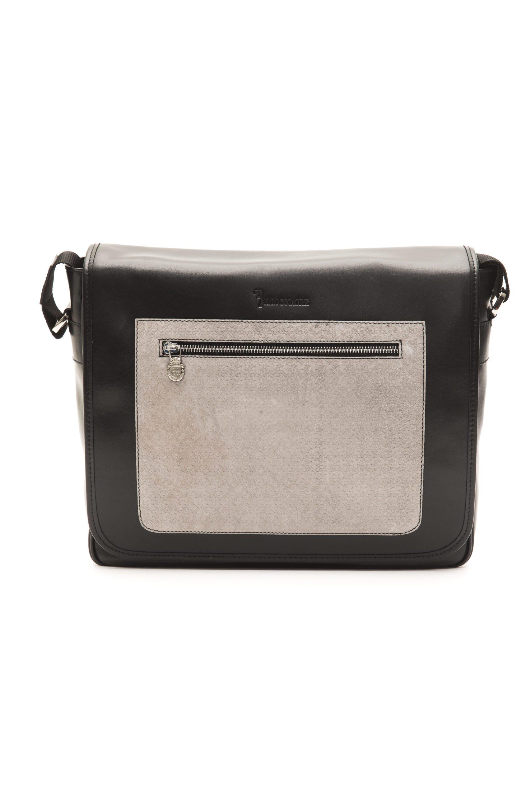 Billionaire Italian Couture Men's Messenger Bag Black BLC50406041A-034CV_BlackGrey