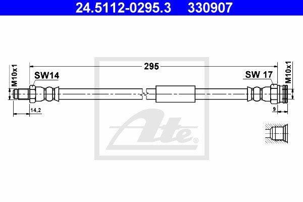 Jarruletku ATE 24.5112-0295.3