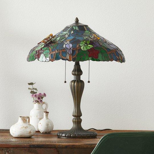 Mesterlig bordlampe Australia, Tiffany-stil