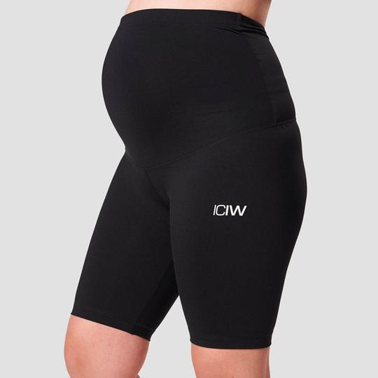Maternity Biker Shorts, Black