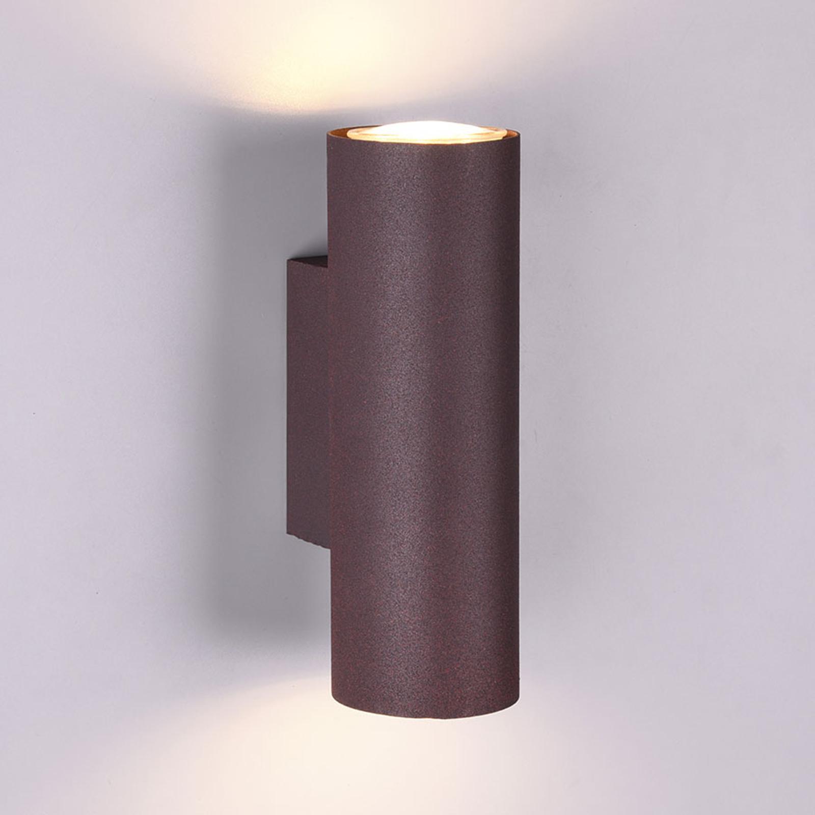 Seinävalaisin Marley 2-lamppuinen, ruosteenvärinen