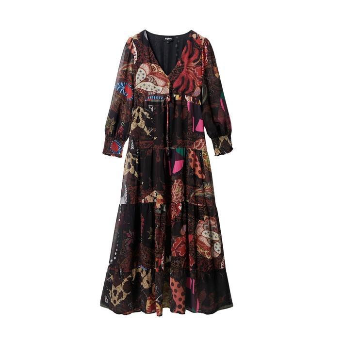 Desigual - Desigual Women Dress - brown S