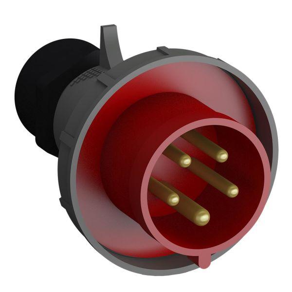 ABB 2CMA102394R1000 Støpsel hurtigtilkoblet, vibrasjonsbestandig Rød, 32 A, 5-polet
