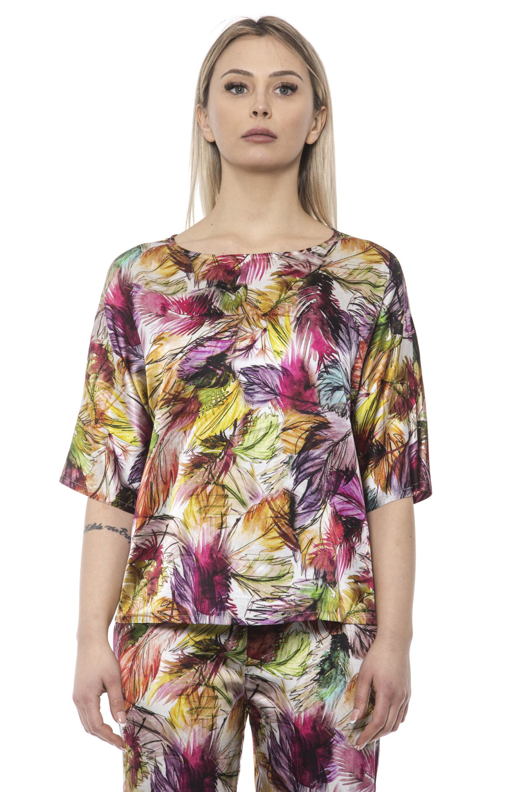Alpha Studio Women's V A R. U N I C A T-Shirt Multicolor AL1394941 - IT40 | XS