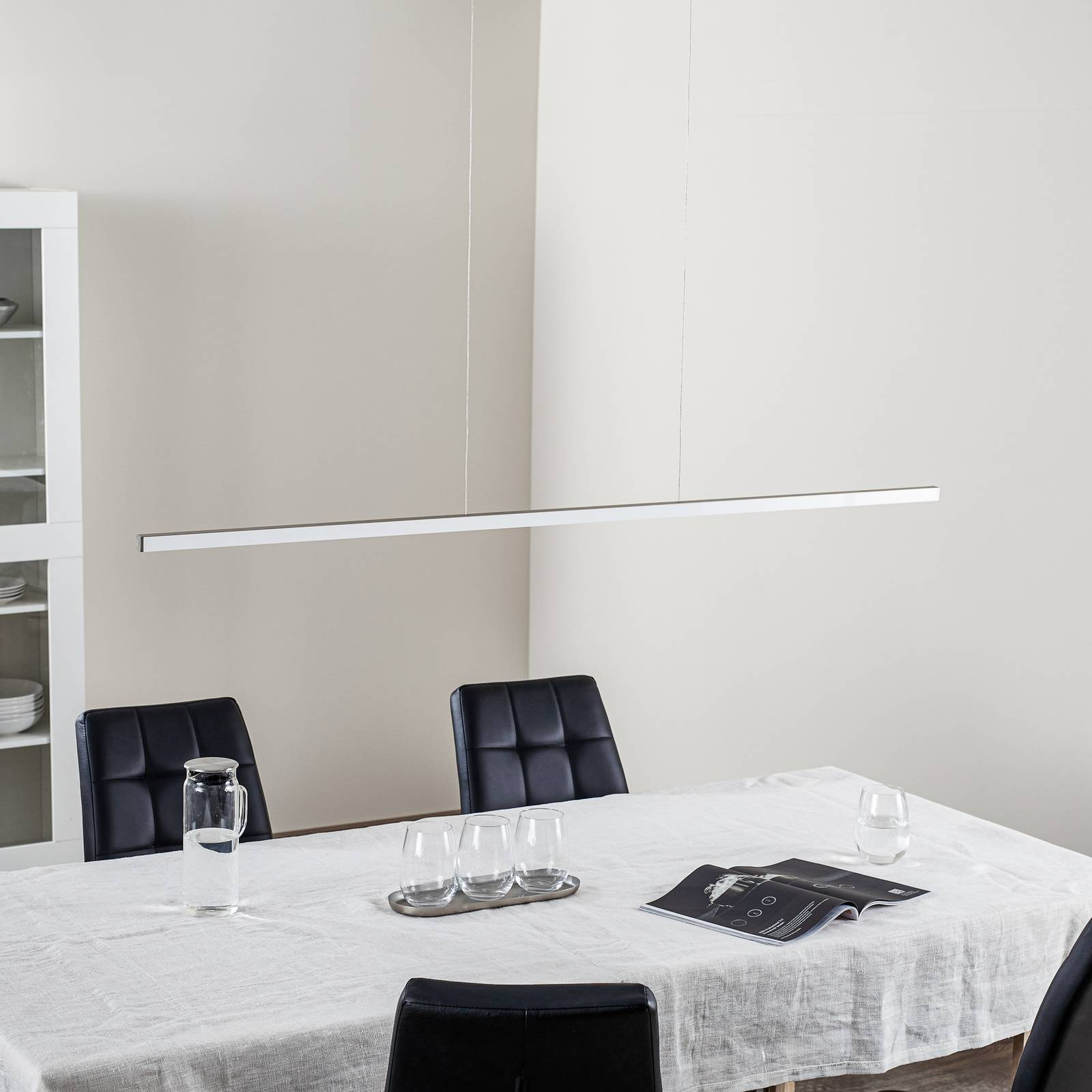 Orix-LED-riippuvalaisin, valkoinen, pituus 150 cm