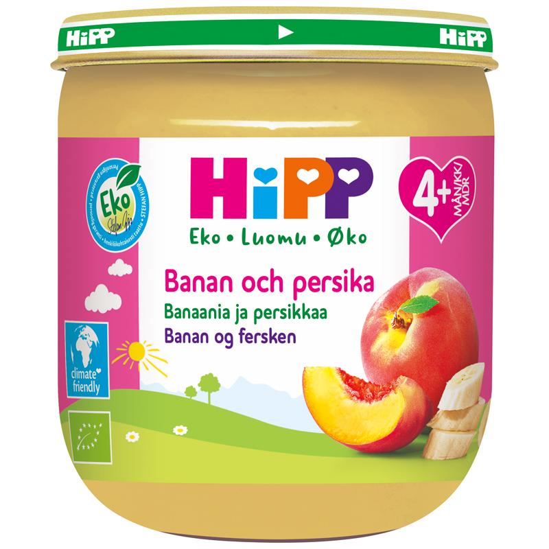 Eko Fruktpuré Banan & Persika 4m - 14% rabatt
