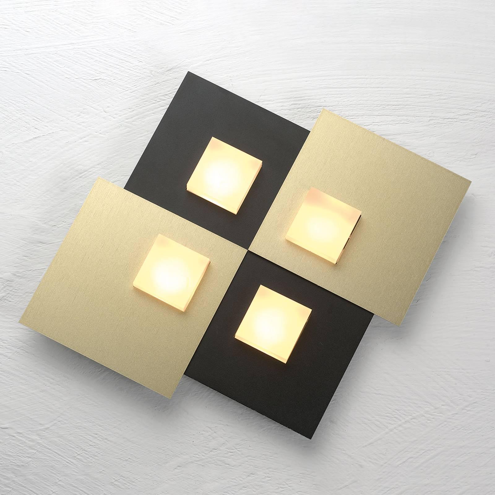Bopp Pixel 4.0 LED-kattovalaisin, 2-lamp., musta
