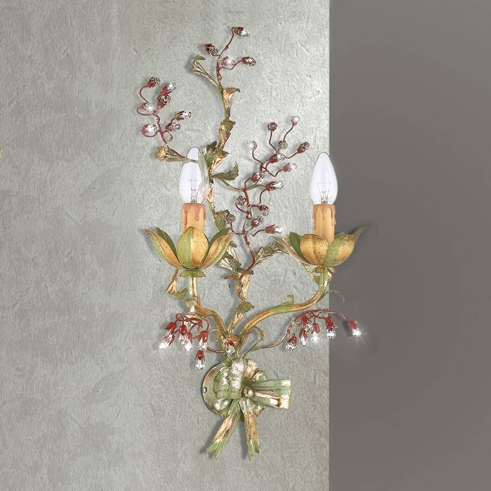 Kukkakoristeinen seinävalaisin Viticcio