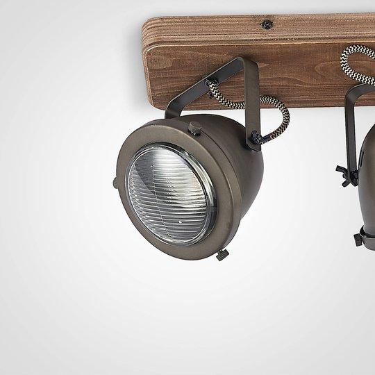 Lindby Farovi -kattokohdevalo musta 3-lamppuinen