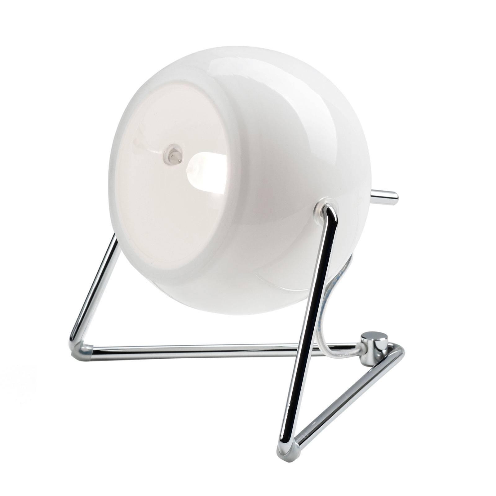 Fabbian Beluga White bordlampe av glass, Ø 9 cm
