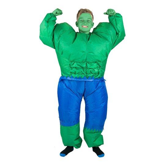 Uppblåsbar Hulken Barn Maskeraddräkt - One size