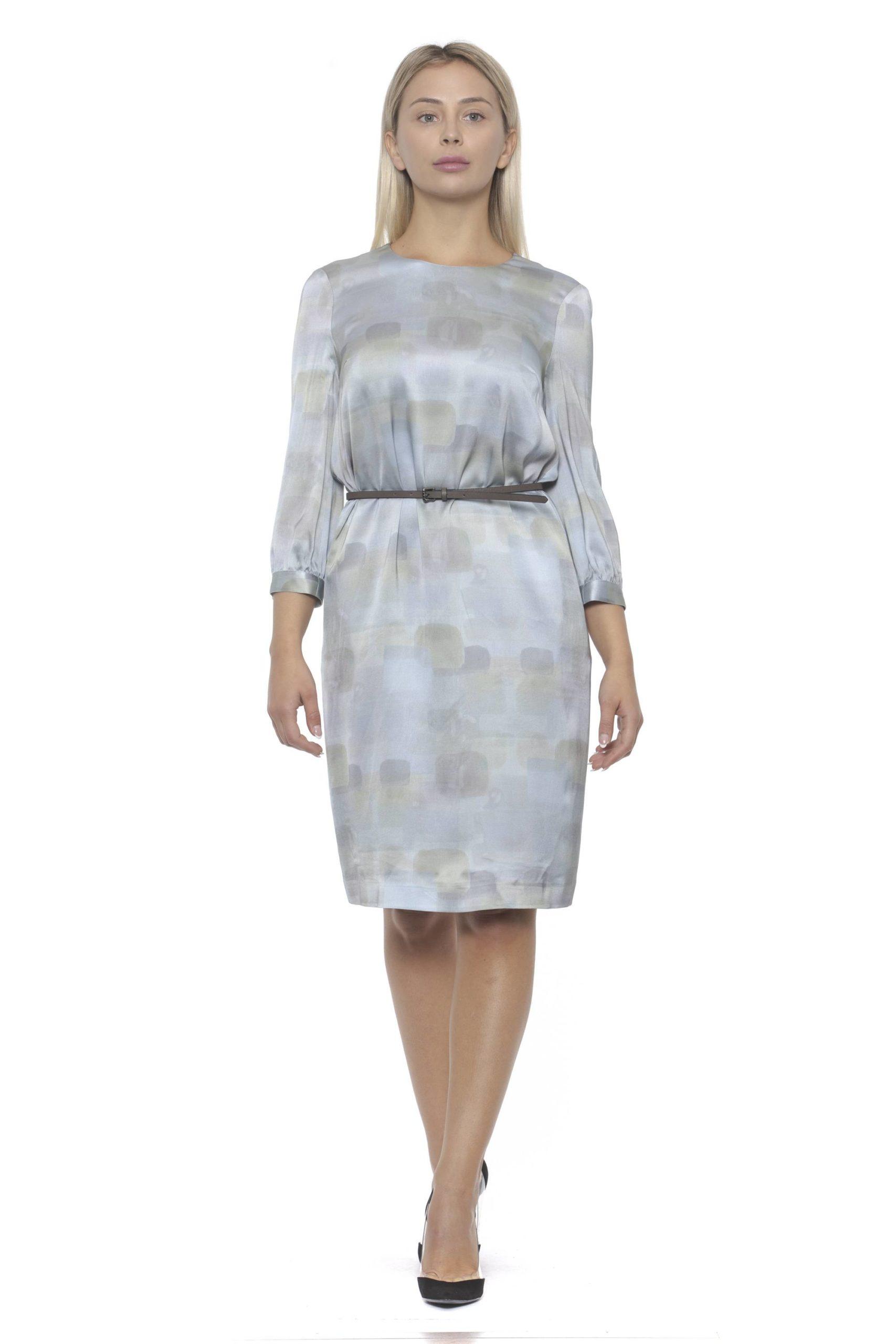 Peserico Women's Azzurro Dress Blue PE1383149 - IT42 | S