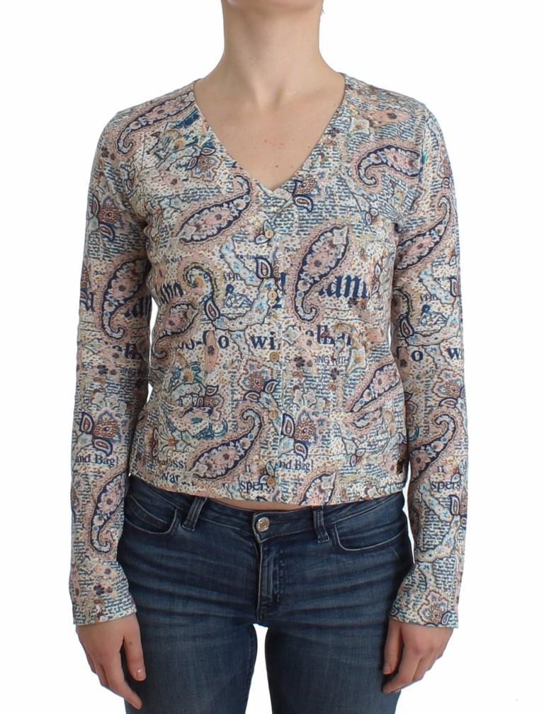 John Galliano Women's Paisley printed Knit Top Multicolor SIG12067 - L