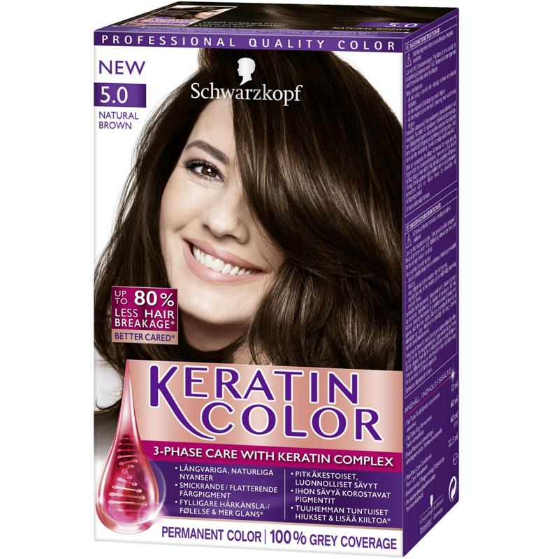 """Hårfärg """"Keratin Color 5.0 Natural Brown"""" - 38% rabatt"""