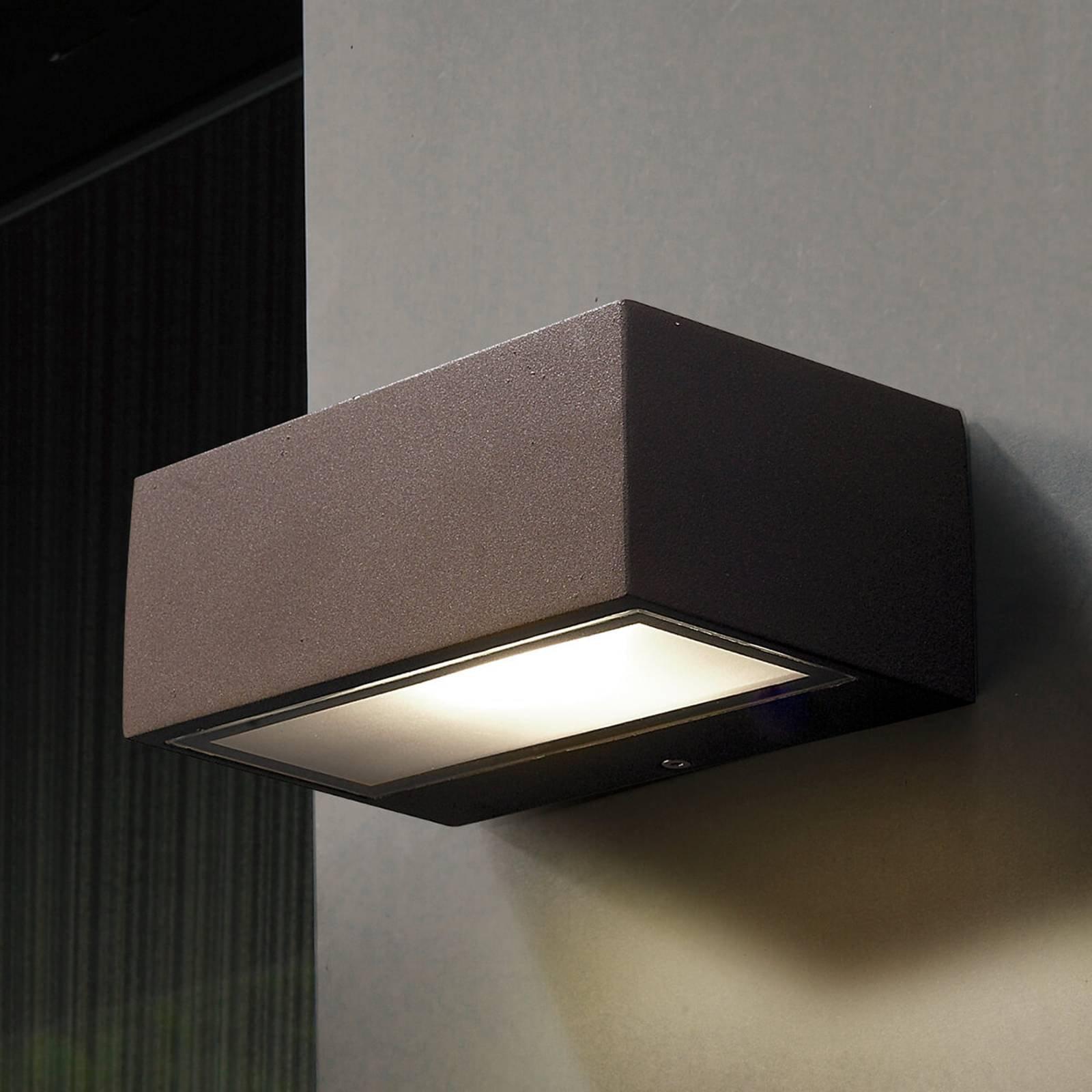 LED-utevegglampe Nemesis, brun