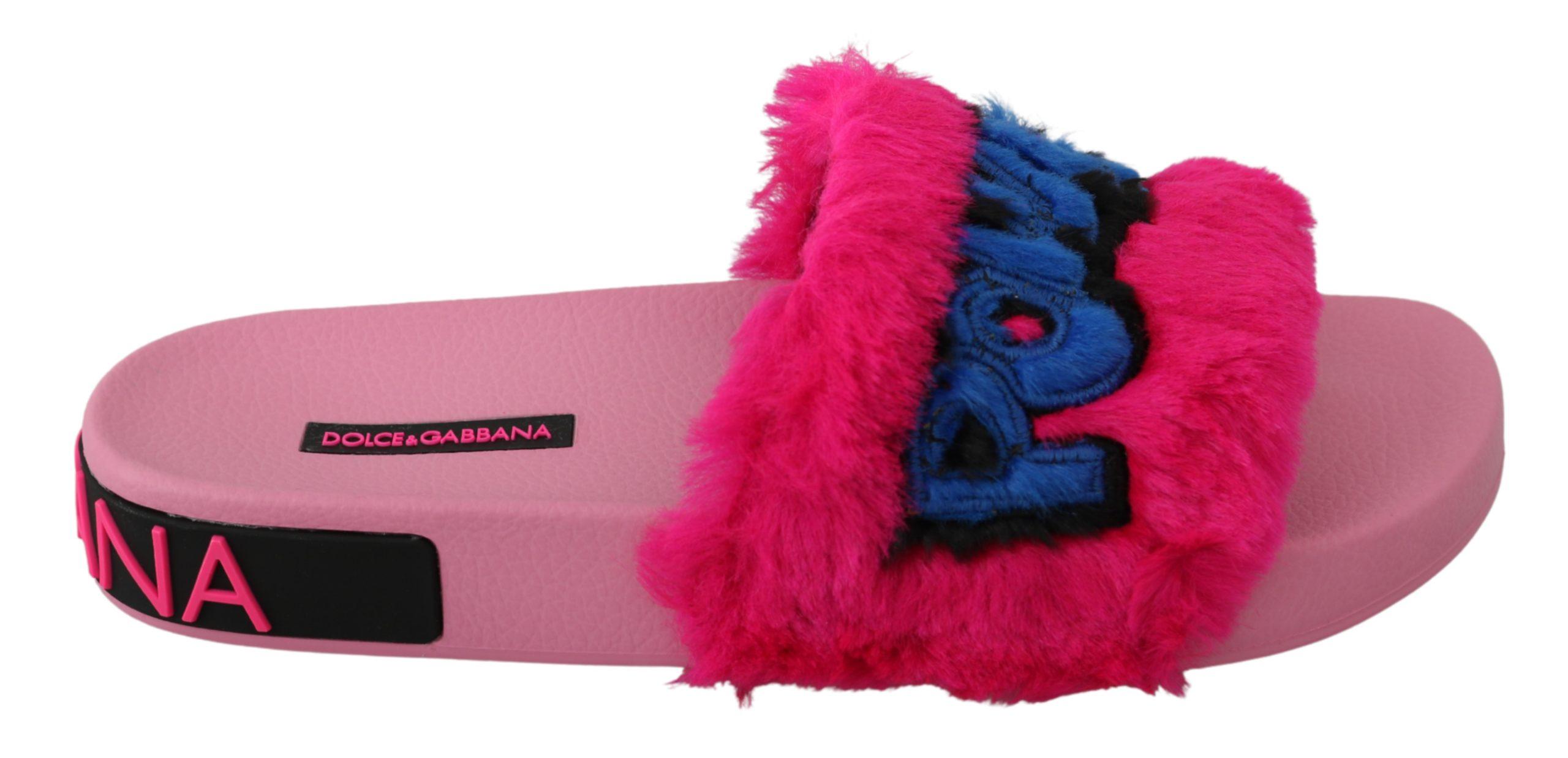 Dolce & Gabbana Women's Beachwear Slides Sandal Pink LA6571 - EU36/US5.5