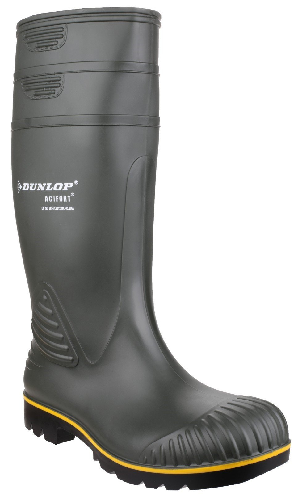 Dunlop Unisex Acifort Heavy Duty Non Safety Wellington Boot Green 22711 - Green 6.5