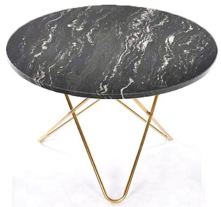 Big O table matbord svart/mässing underrede