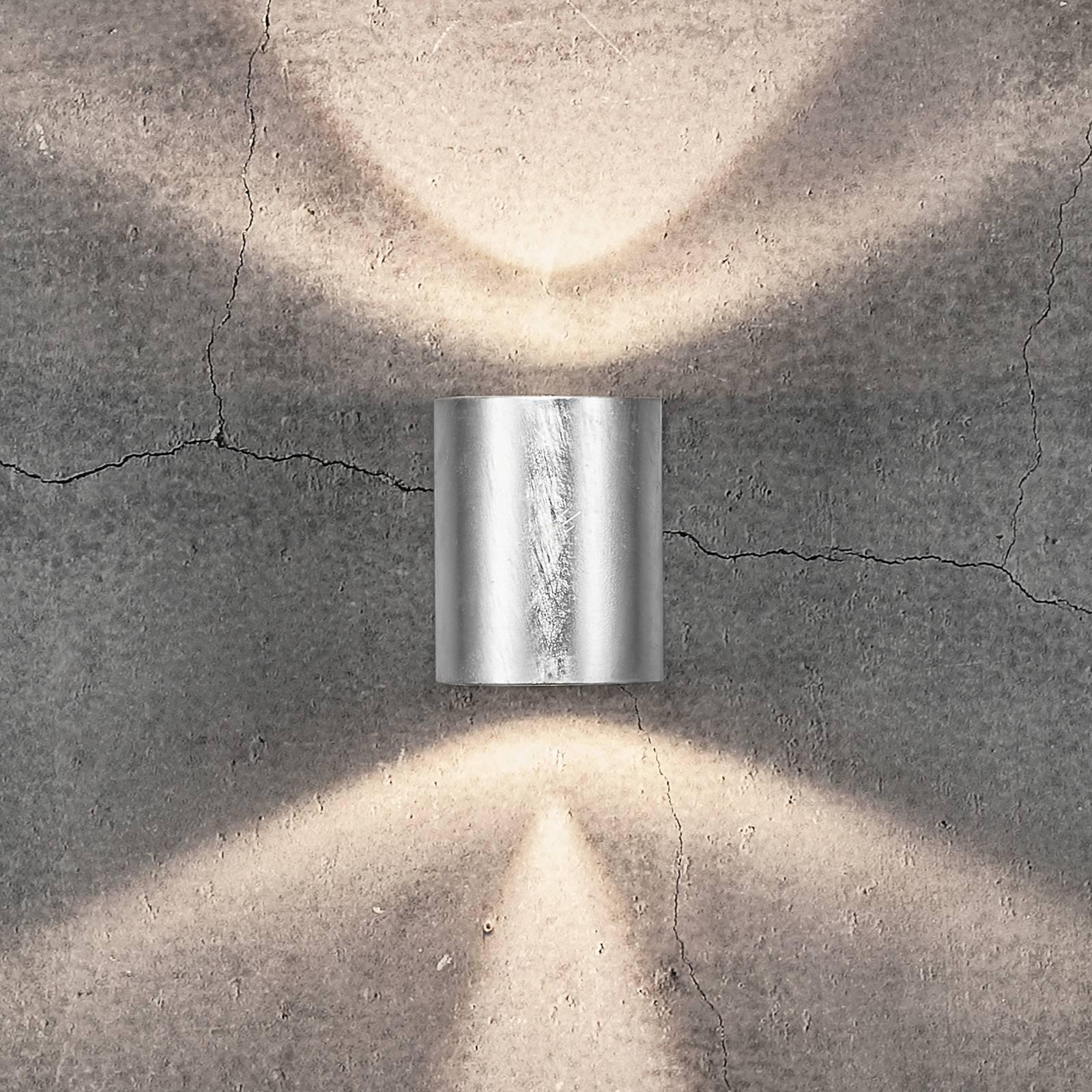 LED-ulkoseinävalaisin Canto 2, 10 cm, sinkitty