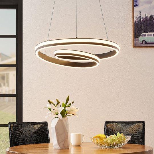 Lucande Gwydion -LED-riippuvalaisin, 60 cm
