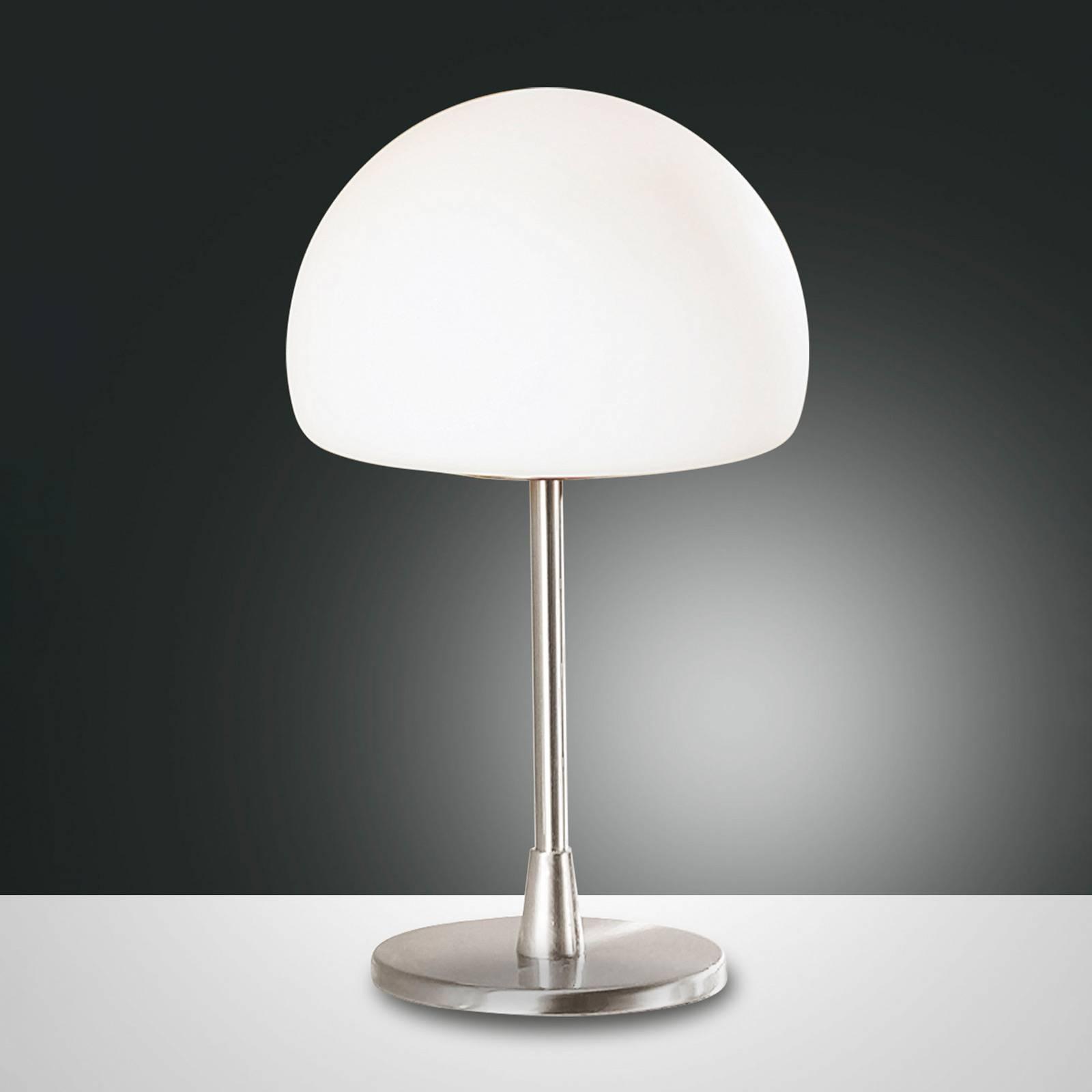 LED-pöytälamppu Gaia kosketushimmentimellä, kromi