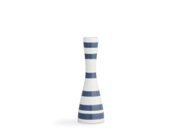 Kähler - Omaggio Candleholder Medium - Steel Blue (691764)