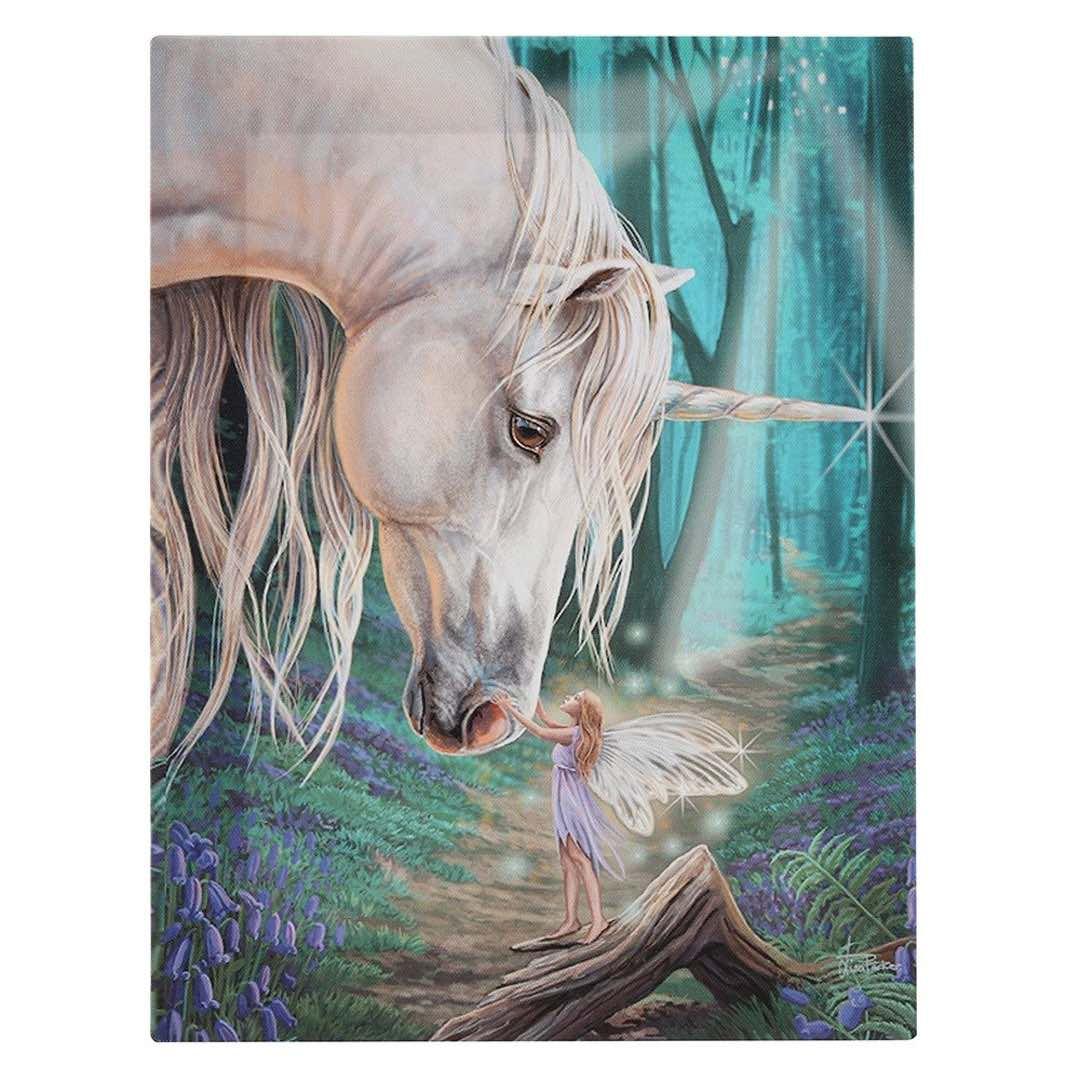 Enhörning och Älva Canvastavla av Lisa Parker