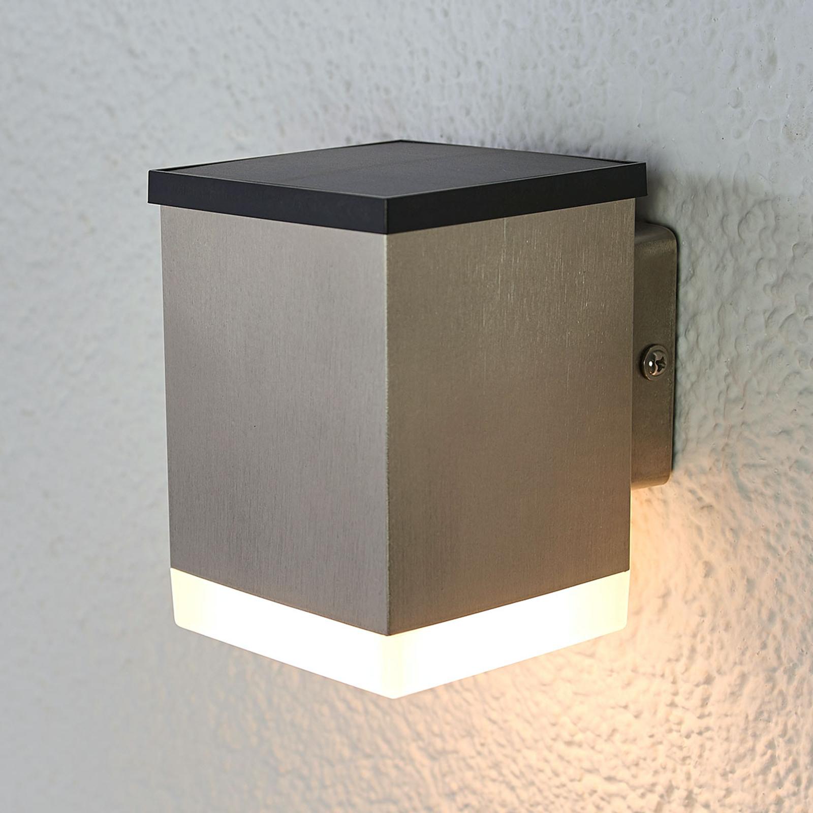 LED -aurinkoseinälamppu Tyson, kulmikas, satinoitu