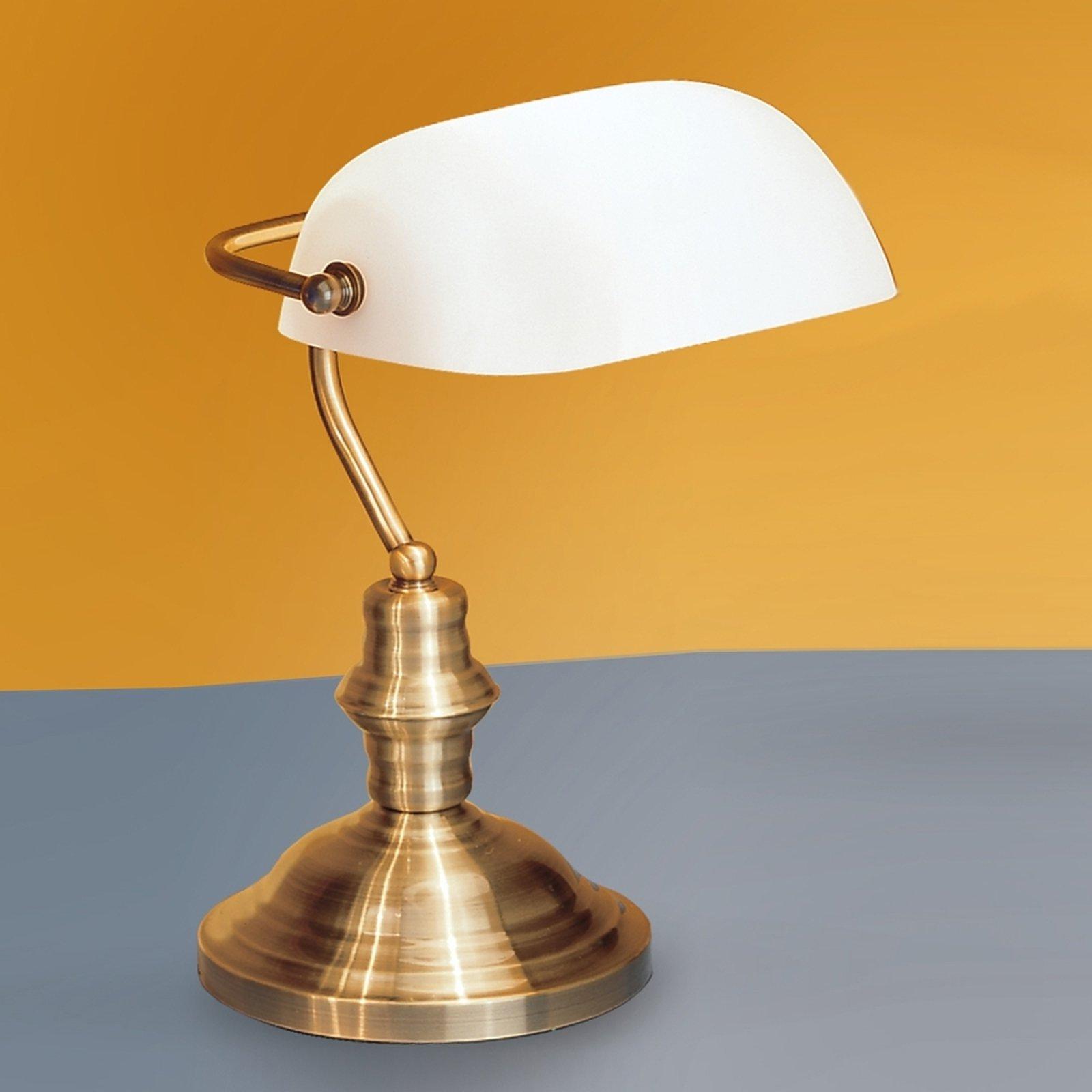 Onella bordlampe i sekretærstil opal