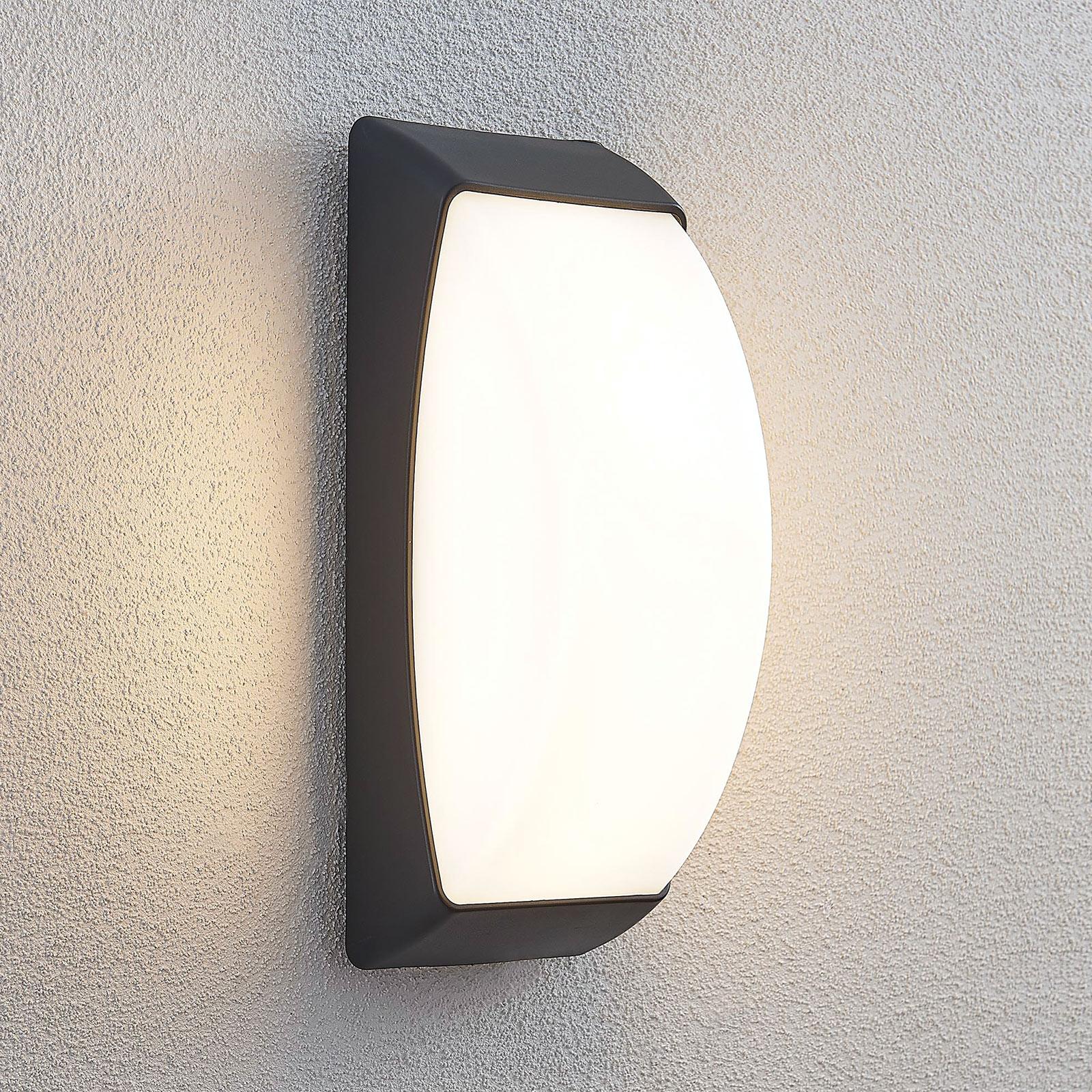 LED-ulkoseinälamppu Alexey, IP65, tummanharmaa