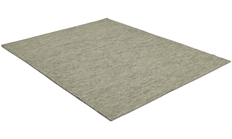 Kolding medium grey - håndvevd ullteppe