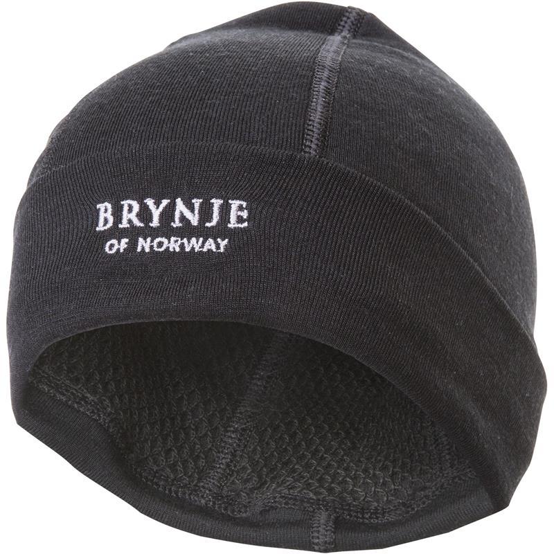 Brynje Arctic Hat Original sort S Lue med netting på innsiden