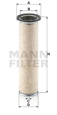 Toisioilmasuodatin MANN-FILTER CF 840
