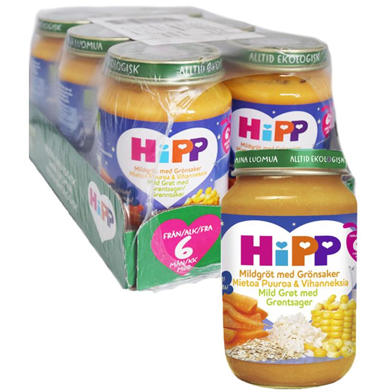 Hel Låda Barnmat Mildgröt Grönsaker 6 x 190 g - 72% rabatt