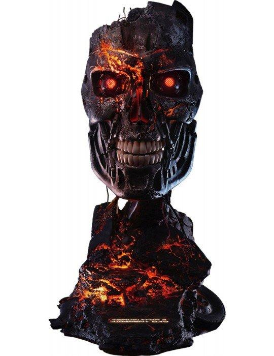 Terminator 2 T-800 Battle Damaged Art Mask RESIN Statue