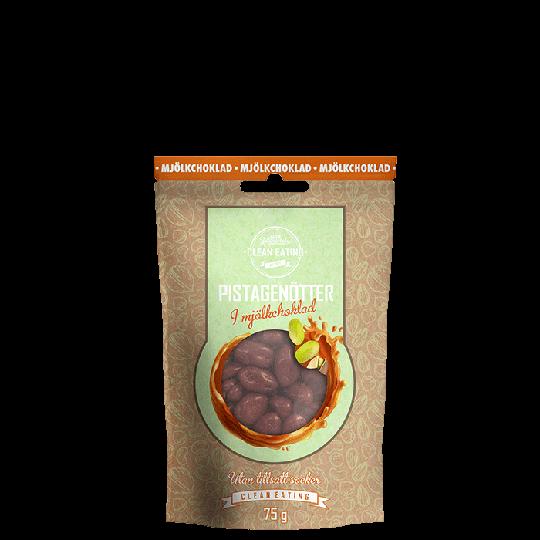 Pistagenötter i mjölkchoklad, 75 g